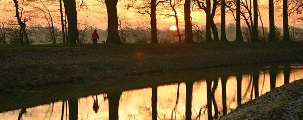 Sonnewende 21 Dezember  8:45 am Kanal  bei Kluse Compane  |   Die Tagen werden lichter